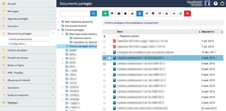 Documents partagés